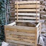 fabriquer un composteur en bois avec des palettes r cup r escompost bio. Black Bedroom Furniture Sets. Home Design Ideas